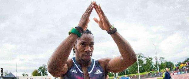 Yohan Blake was world 100m champion in 2011