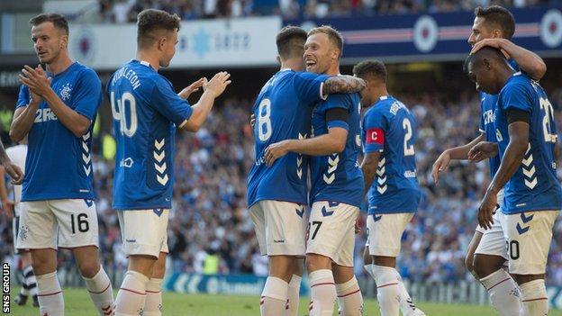 Rangers' new kit is made by Danish company Hummel