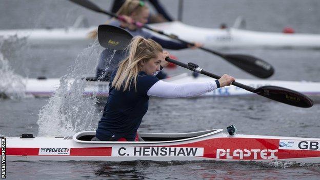 Swimmer turned canoeist Charlotte Henshaw in action