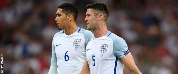 Chris Smalling and Gary Cahill