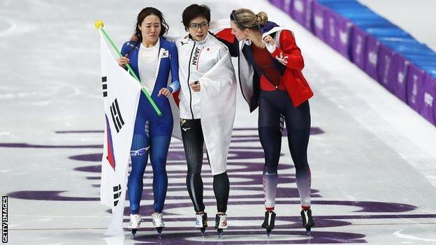 Lee Sang-hwa and Nao Kodaira