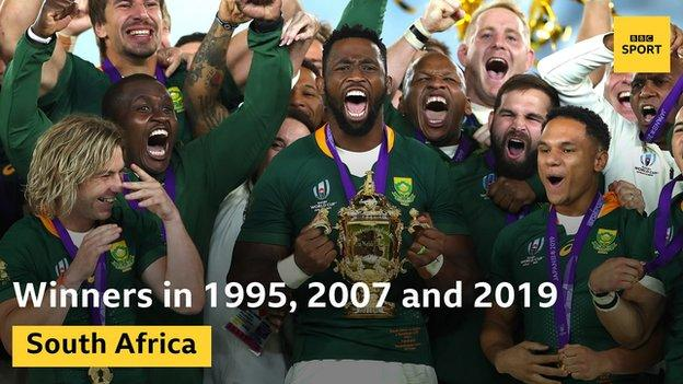 South Africa have won the World Cup three times