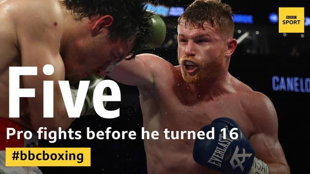 Alvarez was a pro aged 15 and had fought 21 times by his 18th birthday