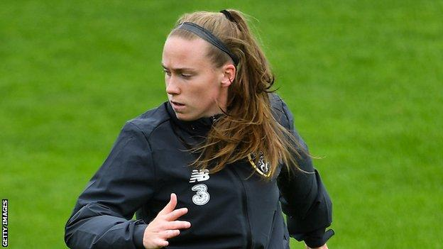 O'Riordan started her career as a striker but has been playing in defence for MSV Duisburg