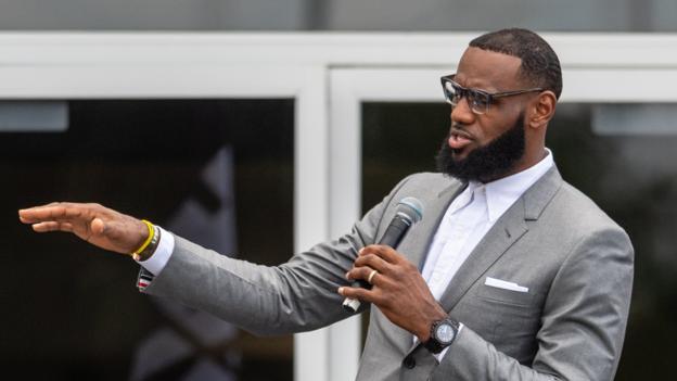 386935bcbe6a LeBron James opens school for underprivileged children - BBC Sport