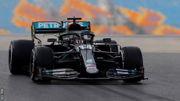 Lewis Hamilton drives at the Turkish Grand Prix