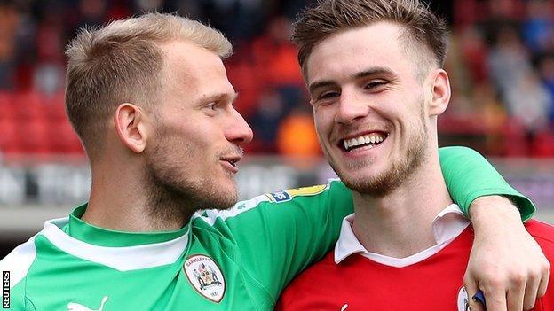 Adam Davies and Liam Lindsay