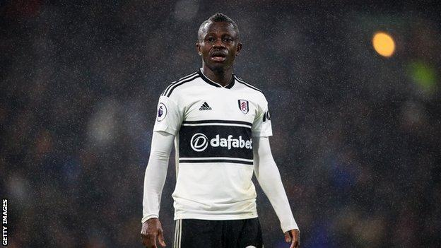 Jean Michael Seri playing for Fulham