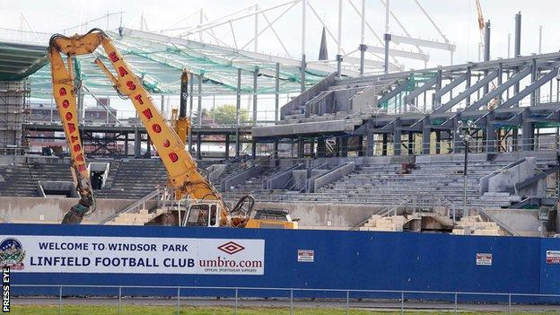 Approval is granted for the rebuilding of the West Stand at Windsor Park
