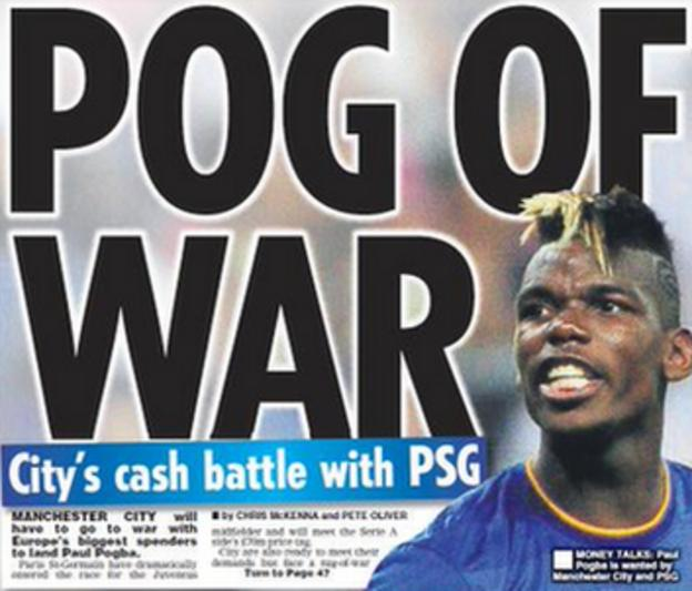The back page of Friday's Daily Star