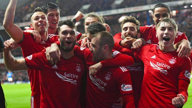 Rangers 0-2 Aberdeen: Derek McInnes' men set up Scottish Cup semi-final with Celtic thumbnail