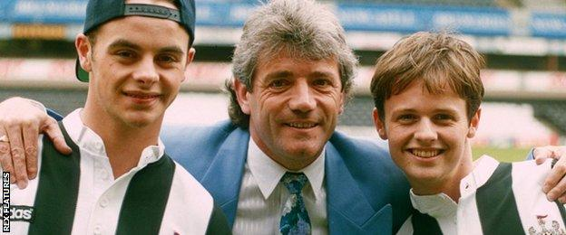 Kevin Keegan (centre) with Ant and Dec