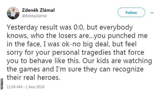 Zdenek Zlamal took to Twitter on Thursday morning