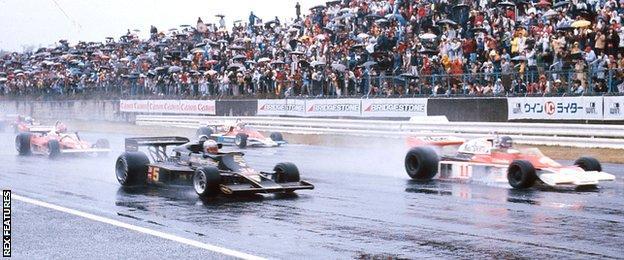 Start of 1976 Japanese GP