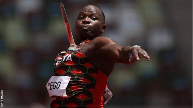 Kenya's Julius Yego in action in the men's javelin at the Tokyo Olympics