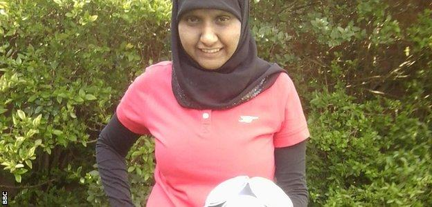 South Asian female football coach Annie Zaidi