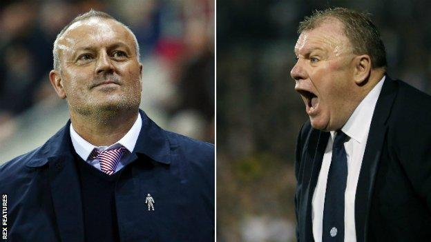 Neil Redfearn and Steve Evans