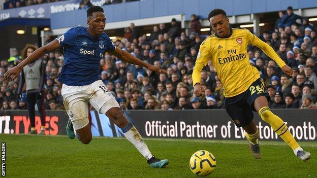 Yerry Mina, Everton, Joe Willock, Arsenal