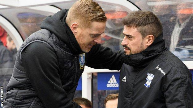 Garry Monk and Pep Clotet