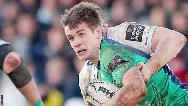 AJ MacGinty in action for Connacht against Leinster on Saturday