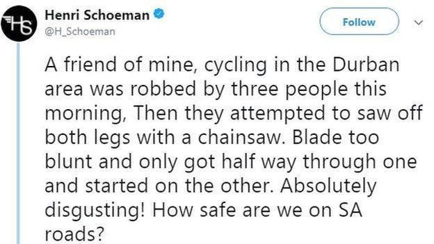 Henri Schoeman tweet