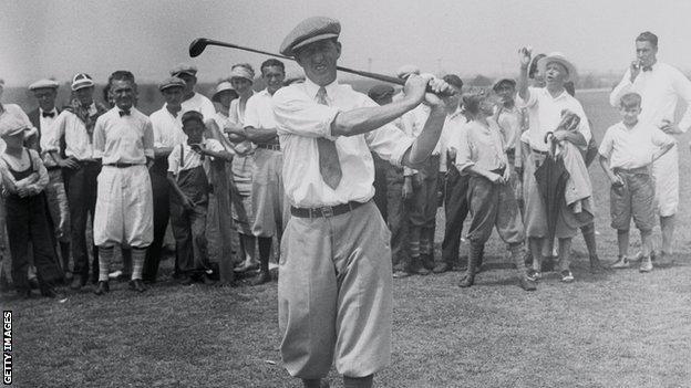 Madonald Smith swings a golf club