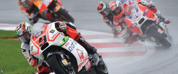 Danilo Petrucci racing at Silverstone