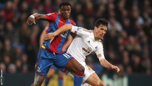 Jack Cork in action against Crystal Palace
