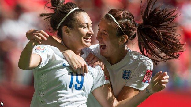 England duo Jodie Taylor (left) and Jill Scott