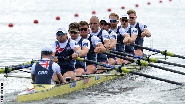 British men's eight at European Championships in Glasgow