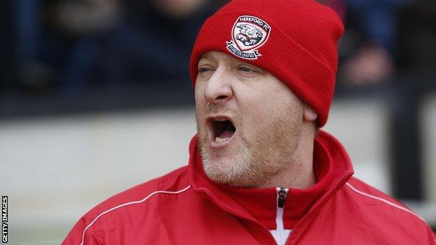 Peter Beadle was Hereford United's last manager before becoming Hereford FC's first