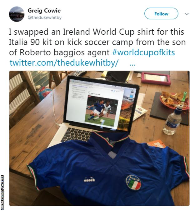 Italy 1990 World Cup shirt