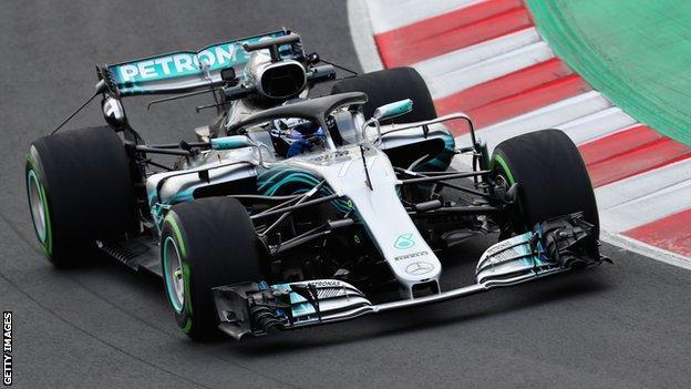 Valtteri Bottas in pre-season testing