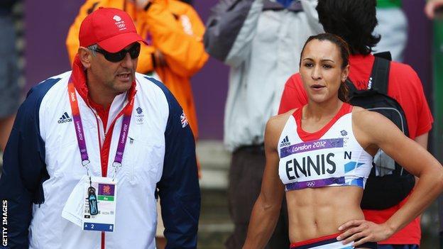 Toni Minichiello and Jessica Ennis-Hill
