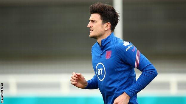 Harry Maguire at England training