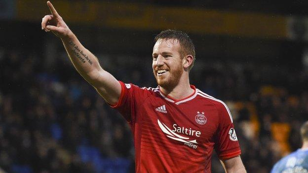 Aberdeen striker Adam Rooney