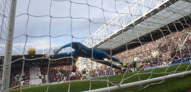 Joe Lewis saves penalty