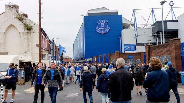 Everton, Southampton, ventiladores, Goodison Park