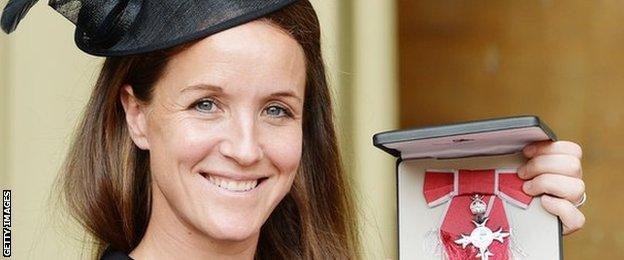 Casey Stoney receives an MBE