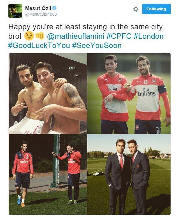 Mesut Ozil on Twitter