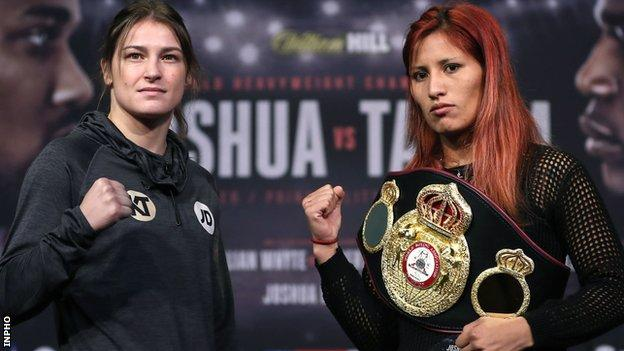 Ireland's Katie Taylor will go up against Anahi Sanchez in Saturday night's fight