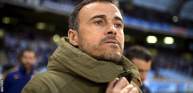 Luis Enrique made four unenforced changes to the Barca team