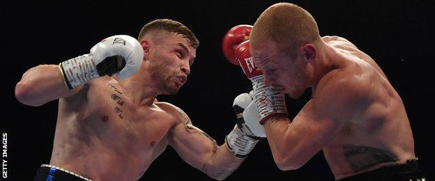 Frampton stopped Australia's Luke Jackson in the ninth round at Windsor Park in August 2018
