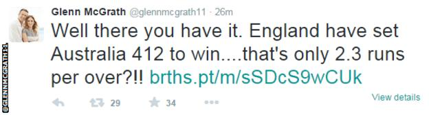 Glenn McGrath tweet