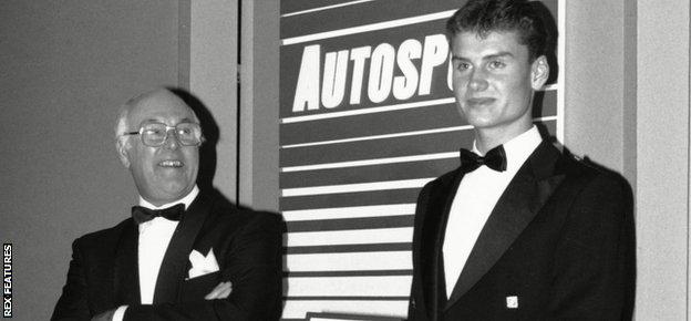 Murray Walker and David Coulthard