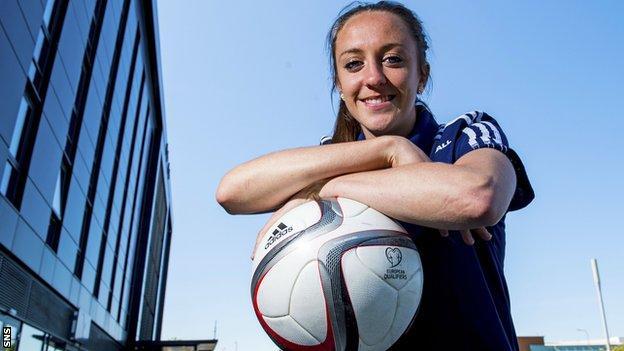 Scotland striker Lisa Evans