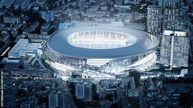 An impression of Tottenham's new ground