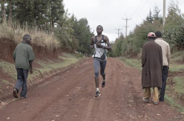 Cornelius Kemboi pictured on a training run