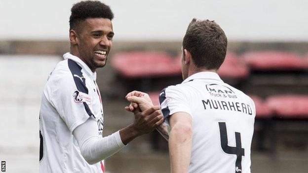 Nathan Austin and Aaron Muirhead were on target for Falkirk at East End Park