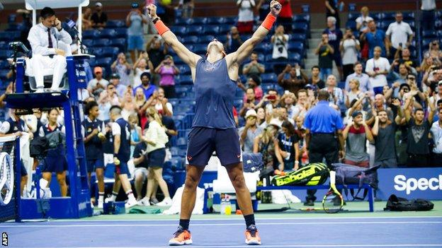 Us Open 2018 Rafael Nadal Beats Dominic Thiem In Epic Quarter Final Bbc Sport